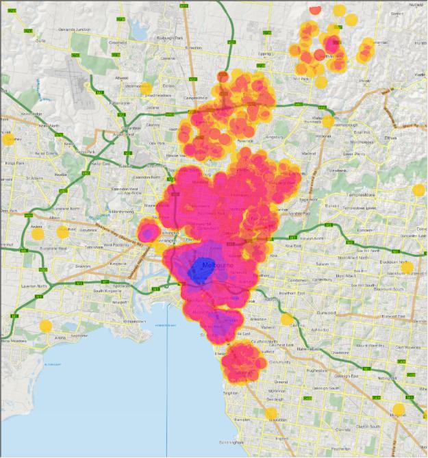Inner Melborne 500m Density