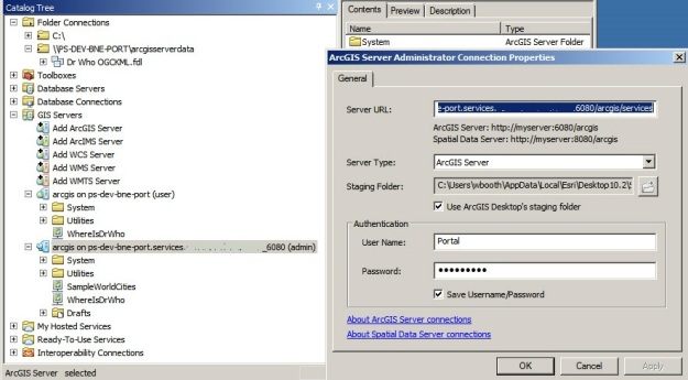 ArcCatalog admin connection using portal user credentials