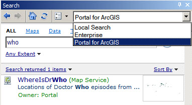 ArcGIS Desktop search of Portal for ArcGIS