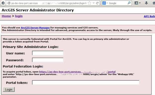 ArcGIS Server Administrator Directory login using portal user credentials