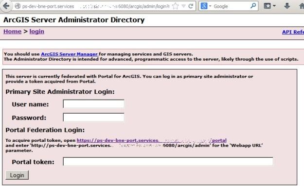 ArcGIS Server Administrator Directory login using portal user credentials