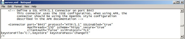 Edit Apache Tomcat server xml