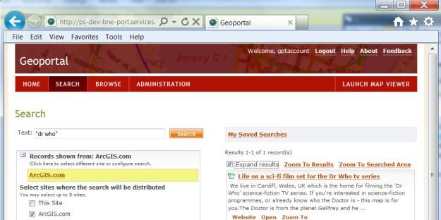 Geoportal search ArcGIS Online