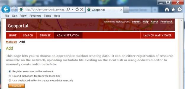 Geoportal Server adding metadata