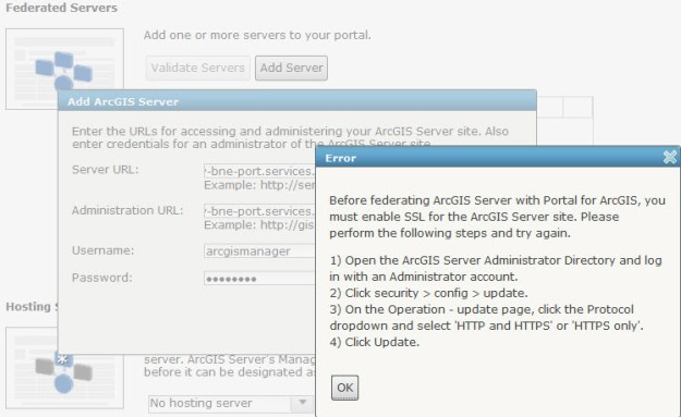 Prior to federate Server to Portal