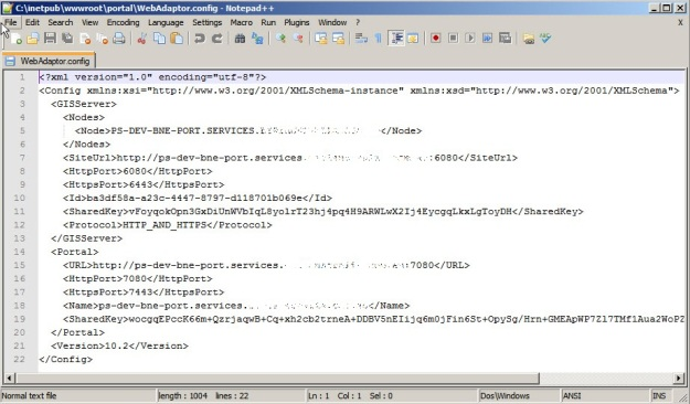 Web Adaptor config