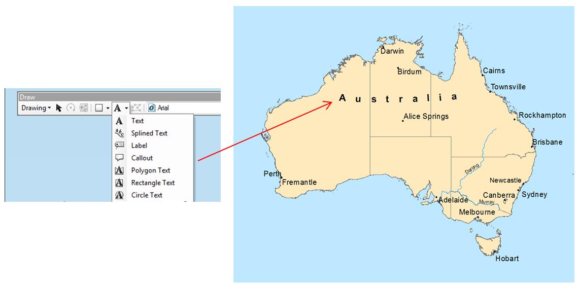 Australia Map Labeled.Let S Talk About Labels Esri Australia Technical Blog