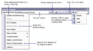 georeferencing tool bar