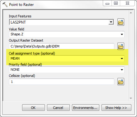 LAS2DEM: Creating raster DEMs and DSMs from * LAS (Lidar) files in