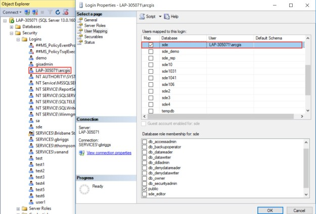 FAQ: Unable to register an SQL Server database with ArcGIS